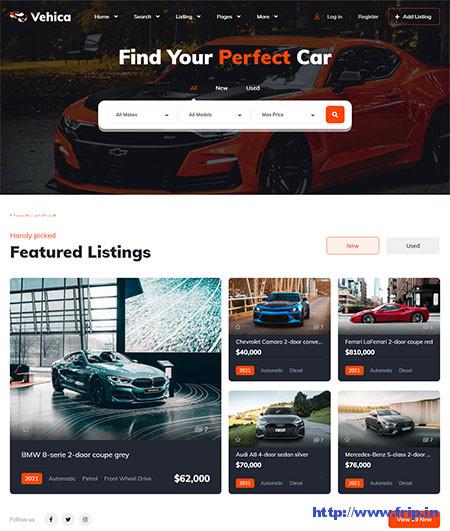 Vehica-Car-Dealer-WordPress-Theme