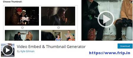 Video-Embed-&-Thumbnail-Generator-Plugin