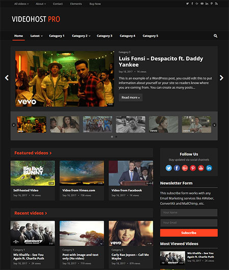 videohost-video-wordpress-theme