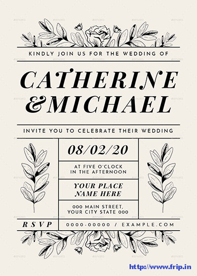 Vintage-Leaf-Wedding-Invitation-Suite