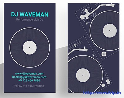 Vinyl-DJ-Business-Card-Template