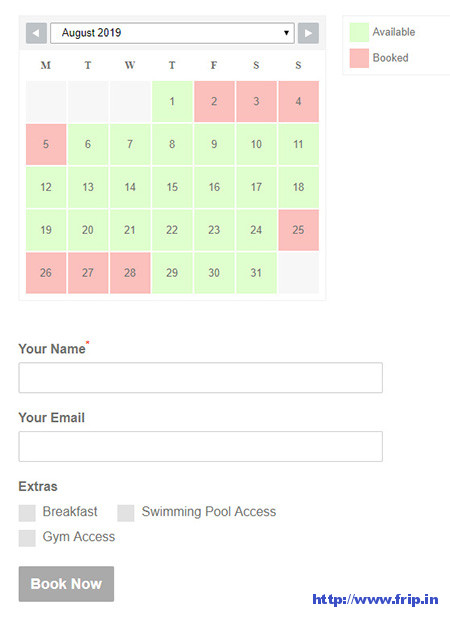 WP-Booking-System-Plugin