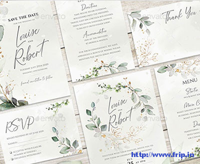 Watercolor-&-Gold-Wedding-Suite