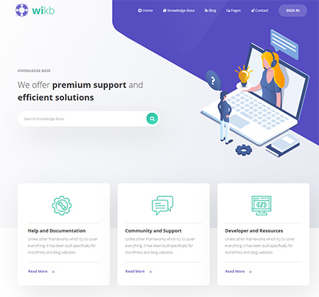 Wikb-Knowledgebase-WordPress-Theme
