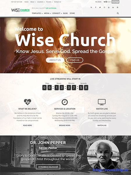 Wise-Church-WordPress-Theme