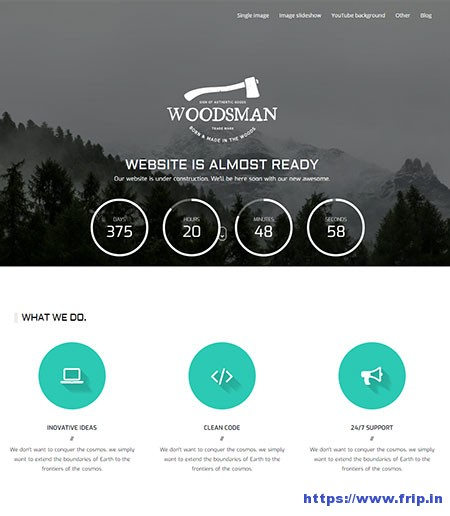 Woodsman-Coming-Soon-WordPress-Theme