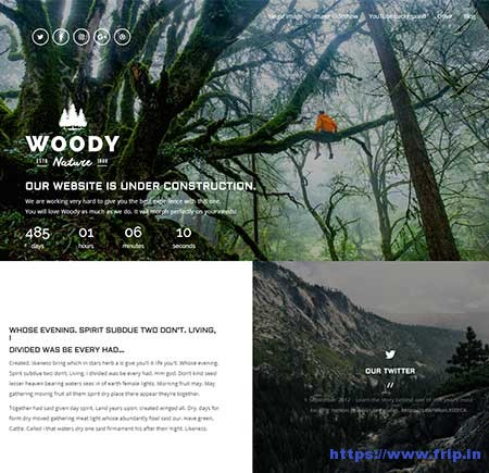 Woody-Coming-Soon-WordPress-Theme