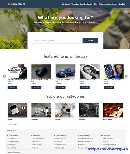 WordPress-Auction-Theme