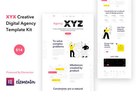XYZ---Digital-Agency-Elementor-Template-Kit