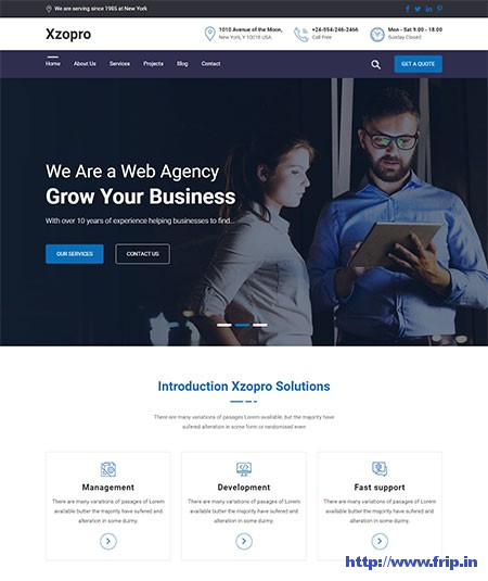 Xzopro-Finance-&-Business-WordPress-Theme