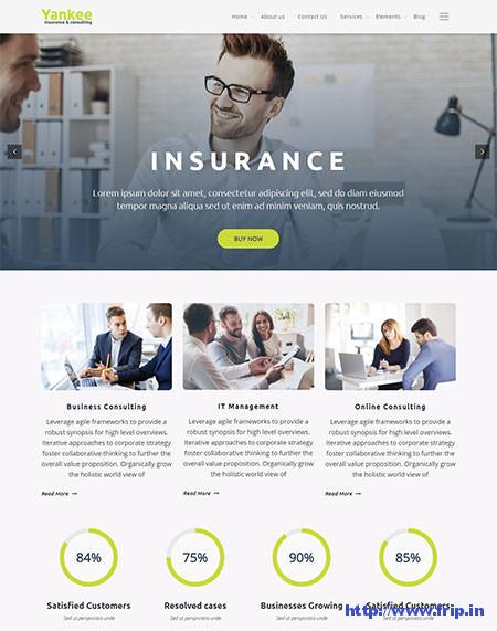 Yankee-Insurance-WordPress-Theme