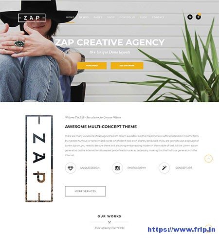 Zap-Multi-Purpose-Website-Template