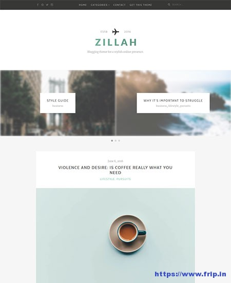 Zillah-free-Blogging-WordPress-Theme