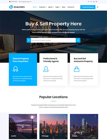 Zoacres-Real-Estate-WordPress-Theme