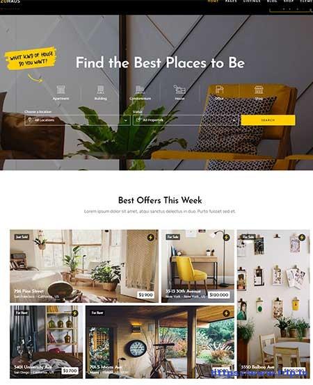 Zuhaus Real Estate WordPress Theme