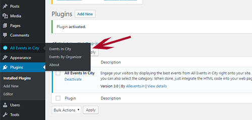 Two Plugins: Events In City & Events Organiser