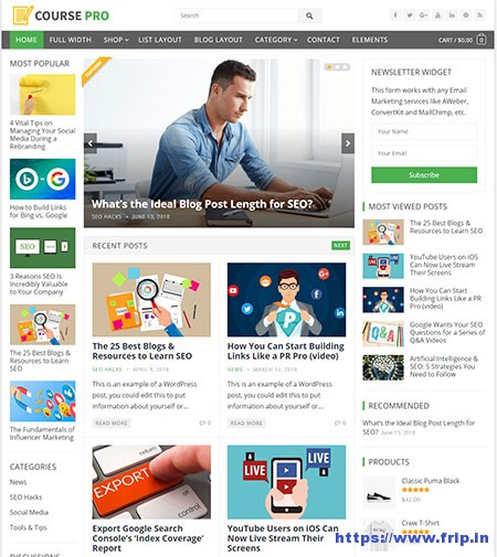 course-magazine-wordpress-theme