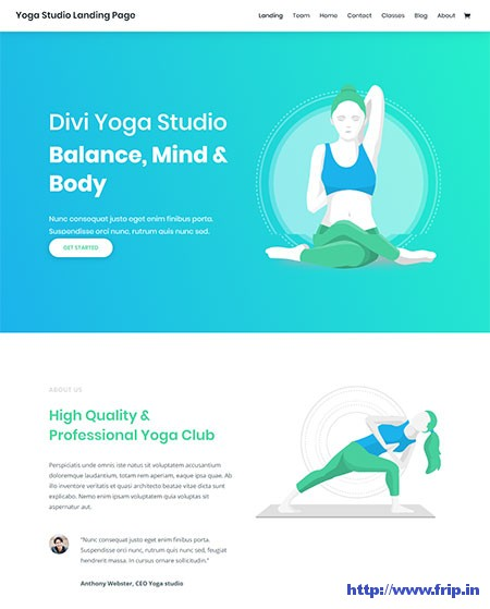 divi-yoga-wordpress-theme