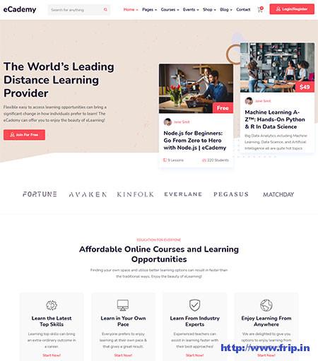 eCademy-learnpress-wordpress-Themes