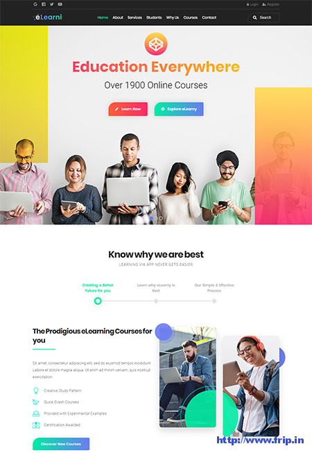 eLearni-LMS-&-Education-WordPress-Theme