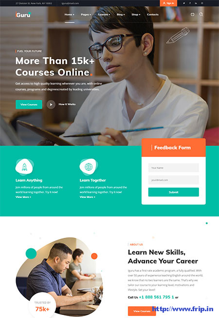 iGuru-Education-&-Courses-WordPress-Theme