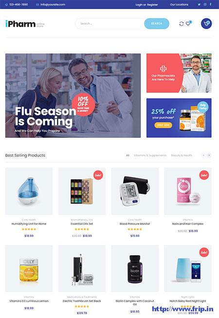 iPharm-Online-Pharmacy-Theme