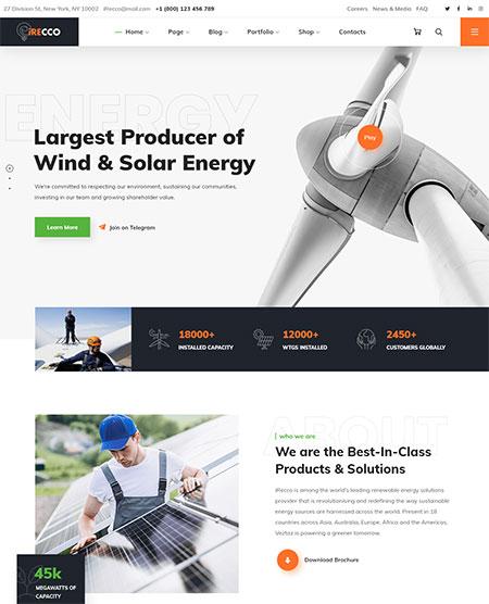 iRecco-Solar-Energy-WordPress-Theme