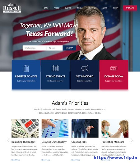 inForward-Political-Campaign-HTML-Template