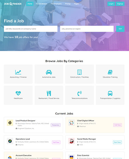 job-finder-wordpress-theme