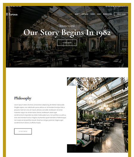 korina-restaurant-wordpress-theme