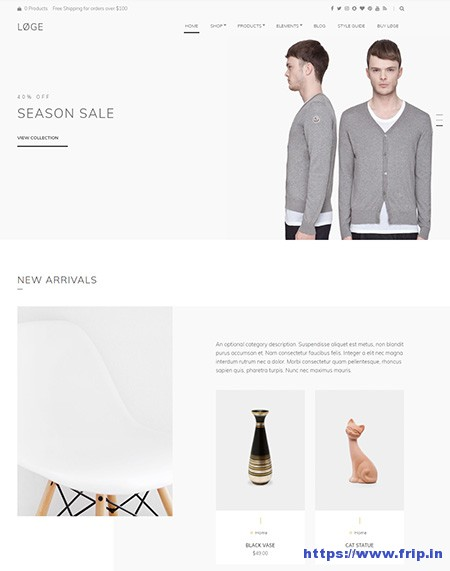 loge-woocommerce-wordpress-theme