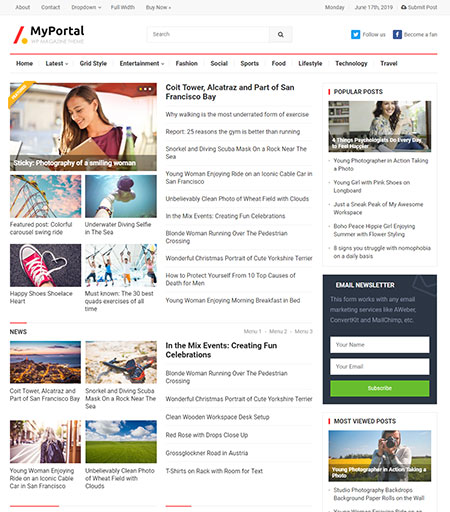 myportal-magazine-wordpress-theme