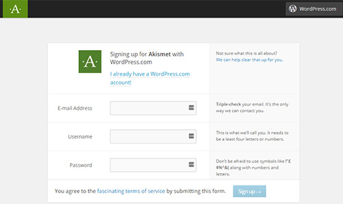 sign-up-for-akismet-plugin