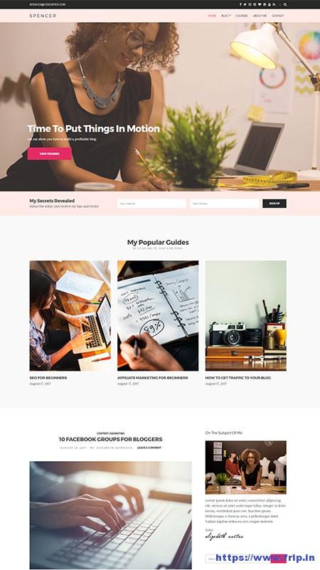 spencer-blogging-wordpress-theme