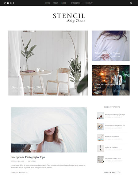 stencil-blog-wordpress-theme