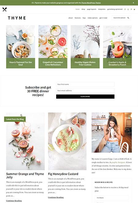 thyme-food-recipe-wordpress-theme