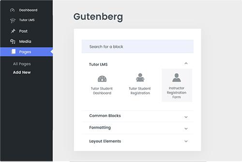 Tutor LMS Gutenberg Compatible
