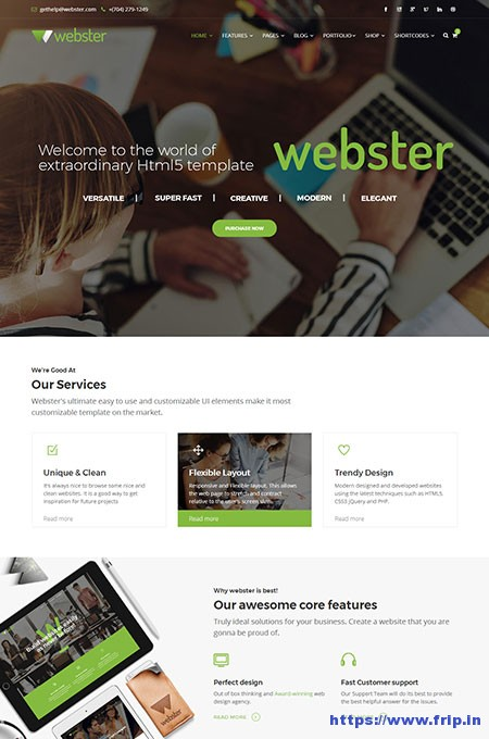 webster-multipurpose-website-template