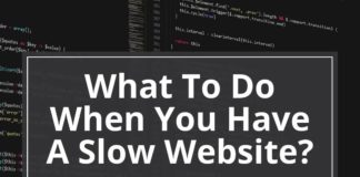 what to do when you have a slow website