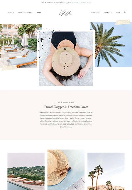 willow-travel-blogger-wordpress-theme
